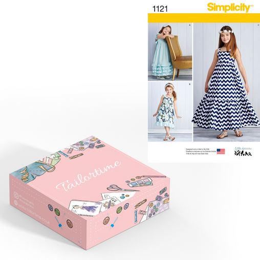 Simplicity 1121 Age 3 to 6 Dress Dressmaking Kit - Vera Fabrics