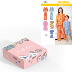 Simplicity 1575 Age 3 to 6 Pyjamas Set or Maxi Dress Dressmaking Kit - Vera Fabrics