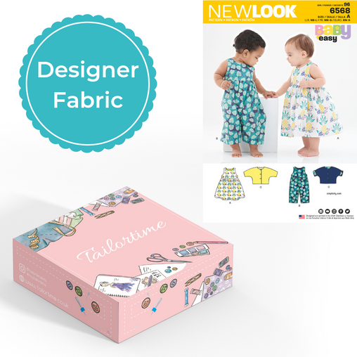 New look 6568 Designer Age Newborn to Large Dress or Romper and Jacket Dressmaking Kit - Vera Fabrics
