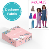 McCalls 7459 Designer Age 3 to 6 Dungarees or Dress Dressmaking Kit