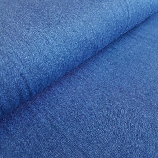 8oz Lightweight Pre-washed 100% Cotton Denim Fabric - Medium - Vera Fabrics