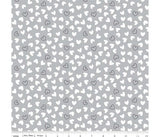 Delilah White & Grey Love Hearts Cotton Fabric