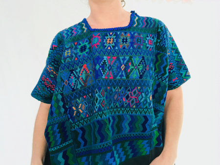 Vintage Guatemala Huipil. Santa Catarina Polopo. Hand Woven & Hand Embroidered