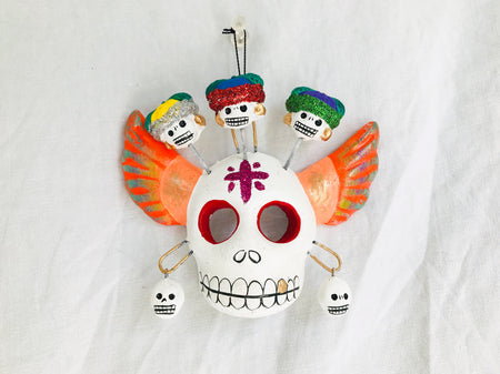 Mexican Skull Decor. Oaxaca, Mexico. Calavera