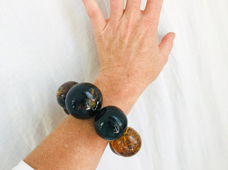Amber Beaded Bracelet. Mexican Amber. Chunky.