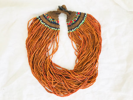 Antique Naga Multi-Strand Necklace. 58 Strand. Nagaland, India. Tribal