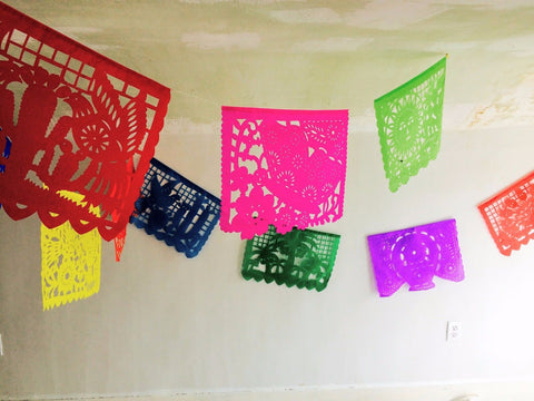 Large Papel Picado. Mexican Folk Art. Paper Banners