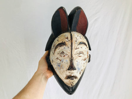 Antique Punu Mukudj Okuyi Mask Of Gabon Africa . African Mask. 19th Century