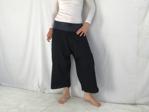 Perfect Hmong Red Dao Indigo Dyed Pants. XS-M