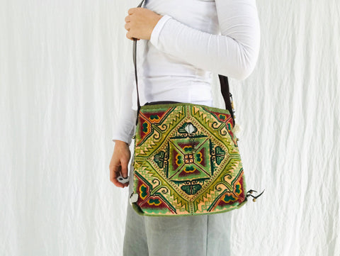 Vintage Hmong Embroidered Bag. Laos