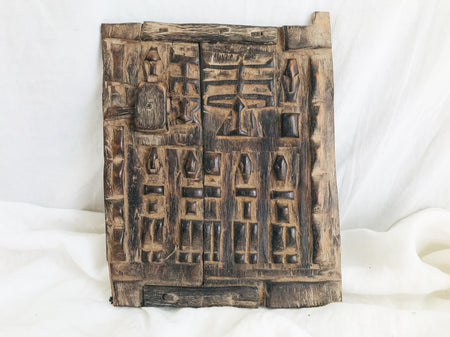 Antique Dogon Carved Door. Mali. African. Granary Door