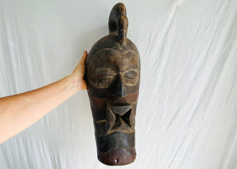 Sognye Mask, Male, Democratic Republic of Congo, Africa. African Mask.