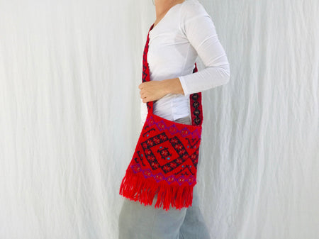 Tenejapa Hand-Embroidered Shoulder Bag. Tribal Chic