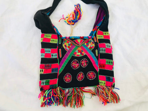 Vintage Hmong Embroidered Handbag. Tribal Chic