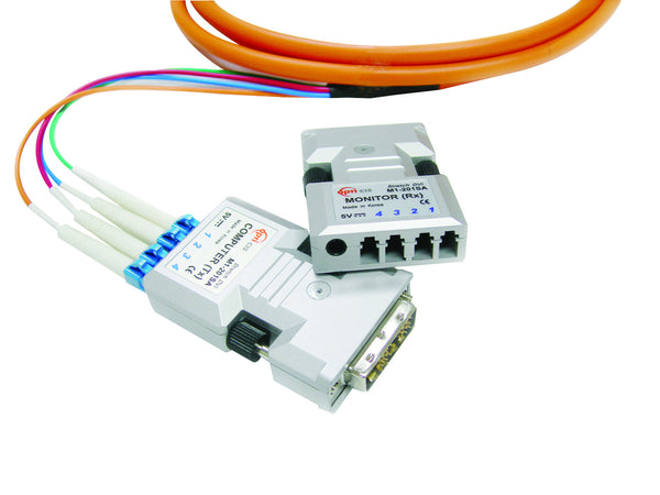 M1-201SA-TR: Four (4) fiber Detachable DVI Module