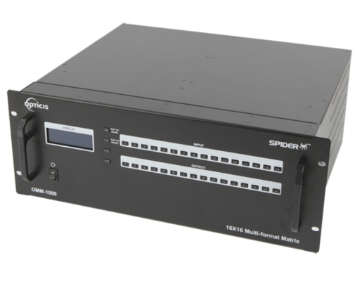OMM-1000; 16X16 DVI/ HDMI/ SDI/ DISPLAYPORT OPTICAL MODULAR MATRIX