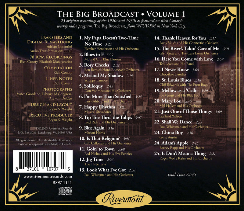 The Big Broadcast, Volume 1: Jazz and Popular Music of the 1920s and 1930s