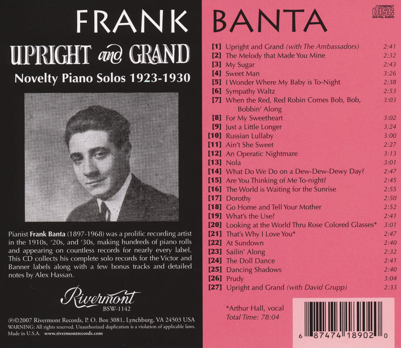 Upright and Grand: Novelty Piano Solos (1923-1930)