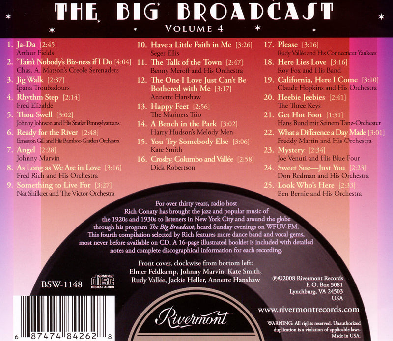 The Big Broadcast, Volume 4: Jazz and Popular Music of the 1920s and 1930s