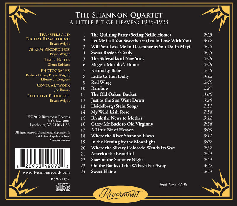 A Little Bit of Heaven: Early Barbershop Quartet Recordings (1925-1928)