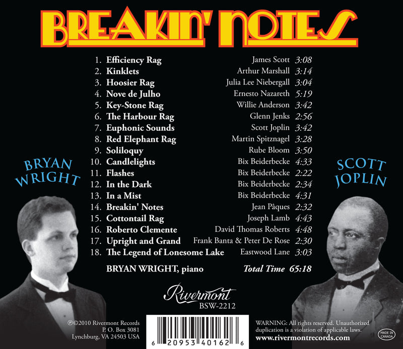 Breakin' Notes: Ragtime and Novelty Piano Solos