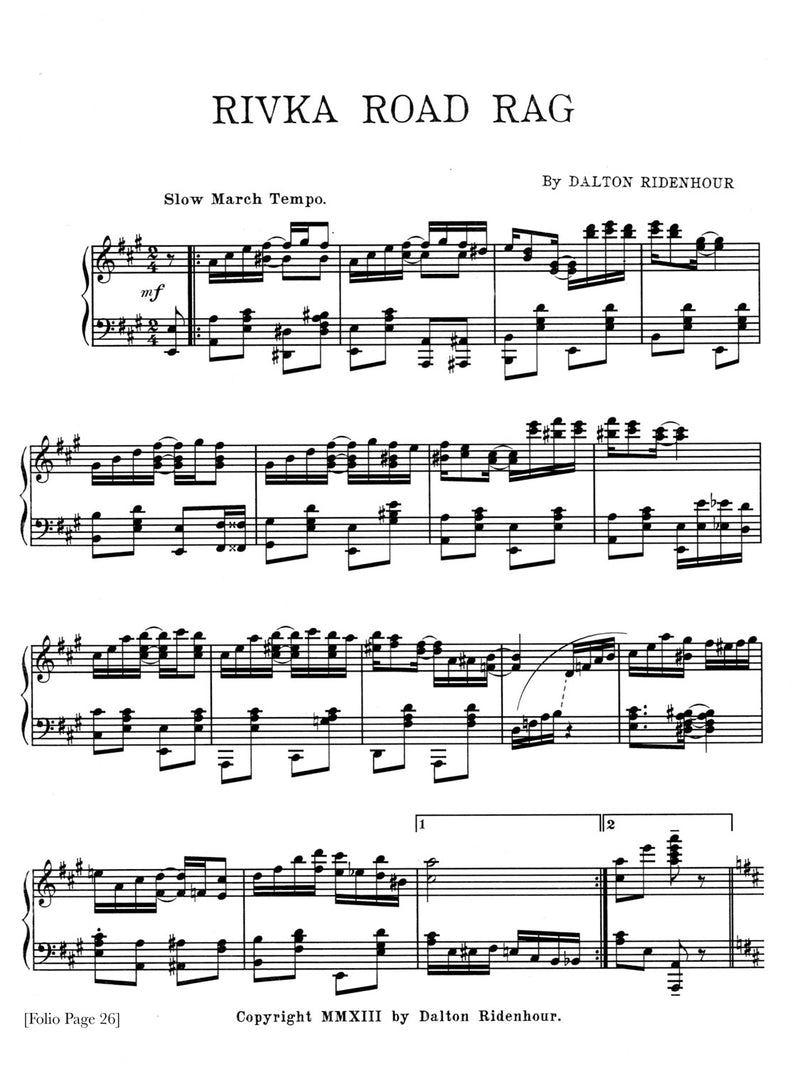 Ragtime Wizardry: 18 New Piano Rags [Sheet Music Folio]