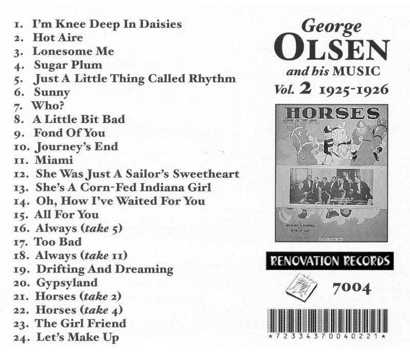 George Olsen and His Music, Volume 2 (1925-1926)
