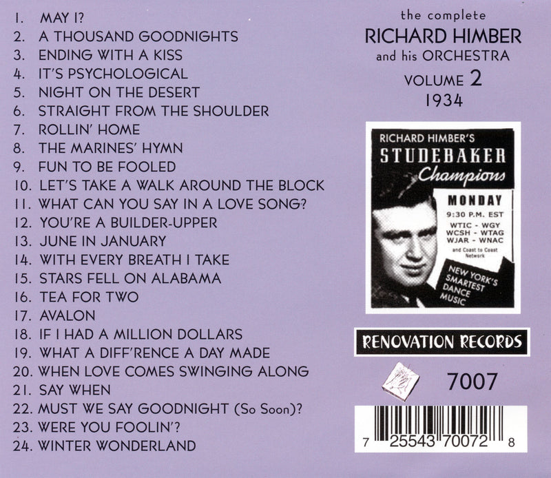 Richard Himber and His Orchestra, Volume 2 (1934)