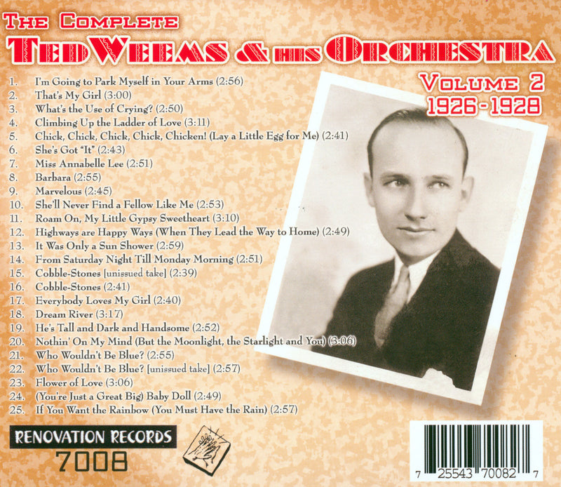 Ted Weems and His Orchestra, Volume 2 (1926-1928)