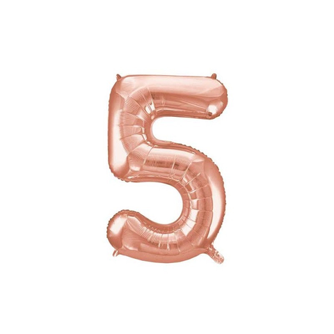 Unique Party 34 Inch Rose Gold Glitz Number Balloon -5