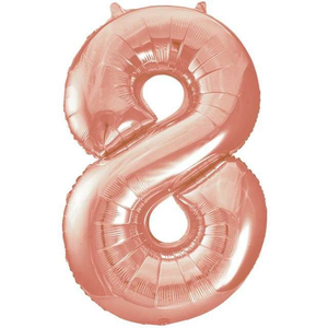Unique Party 34 Inch Rose Gold Glitz Number Balloon -8
