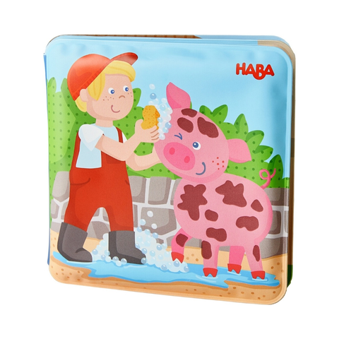 Haba Wash Away Bath Book - Farm Animal