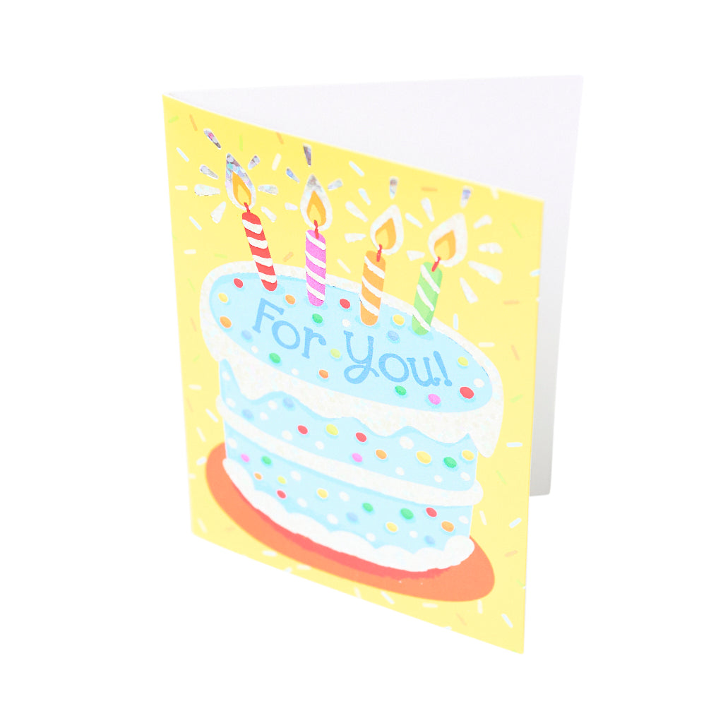 Peaceable Kingdom Blue Cake Greeting Enclosure