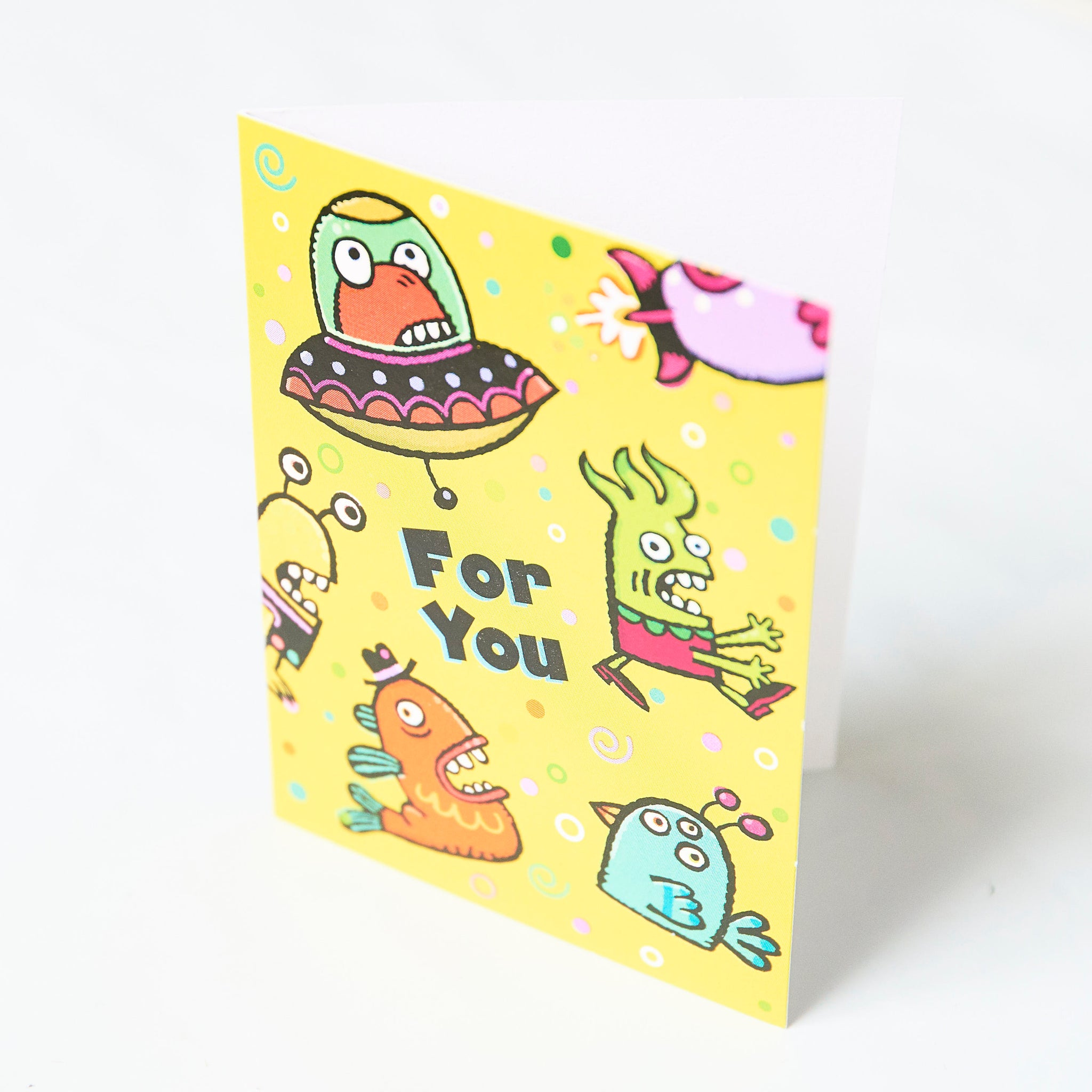 Peaceable Kingdom Monsters And Aliens Gift Enclosure Card