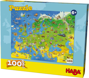 Haba Puzzle Europe 100 Pieces