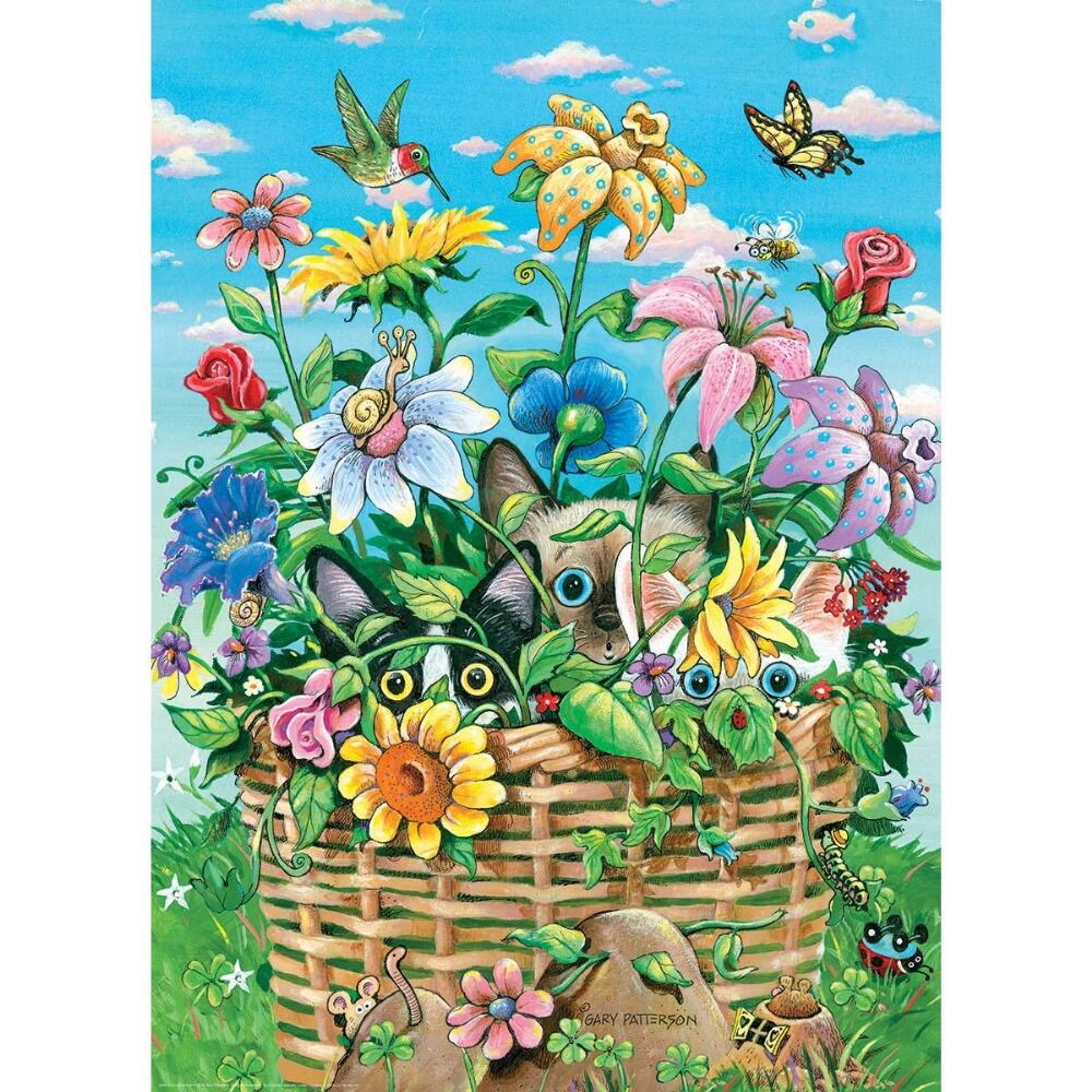 EuroGraphics Peek-a-Boo Kittens Puzzle 300 pieces