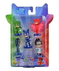 Disney Junior PJ Masks Romeo, Gekko, Catboy, Owlette & Night Ninja Exclusive Figure 5-Pack