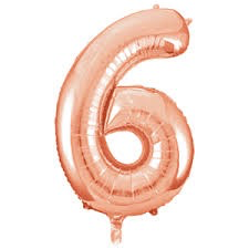 Unique Party 34 Inch Rose Gold Glitz Number Balloon -6