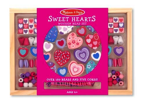 Melissa & Doug Created By Me! Sweet Hearts Wooden Bead Set