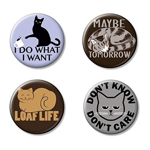 "Ata-Boy SnorgTees Here Kitty Kitty 4 1.25"" Collectible Buttons"