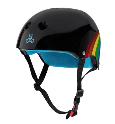 Triple8 Certified Sweatsaver Helmet - Rainbow Sparkle Black XS/S