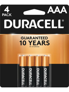 Duracell Coppertop AAA Alkaline Batteries, 4 Pack