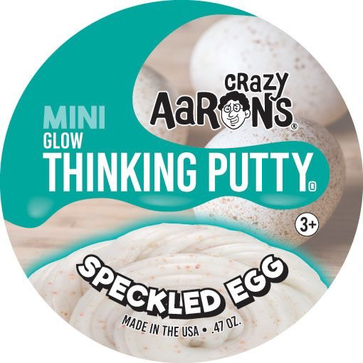 "Crazy Aaron's 2"" - Tin Putty Speckled Egg (EASTER EDITION)"