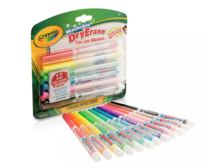Crayola Dry Erase Markers Fine Line Washable 12ct