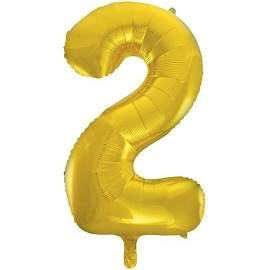 Unique Party 34 Inch Gold Glitz Number Balloon -2