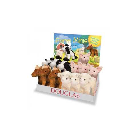 Douglas Toys Farm Minis - Horse, Lamb, Pig, Cow. (One Animal Per Order)