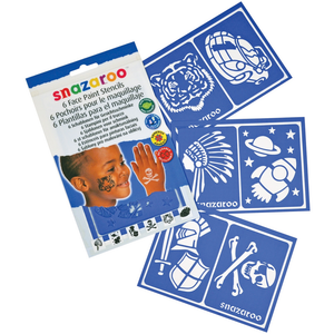 Snazaroo Face Painting Stencils, 6/pkg, Size: Boys Adventure, Assorted
