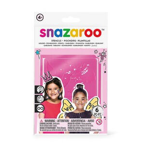 Snazaroo Face Painting Stencils 6-Pkg-Girls' Fantasy