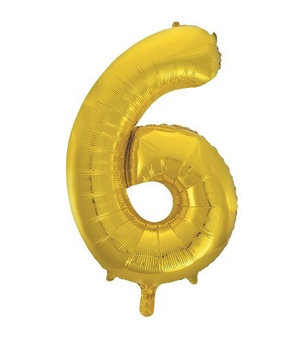 Unique Party 34 Inch Gold Glitz Number Balloon -6
