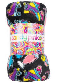 Candy Pink Roller Derby Fleece Blanket 60 x 60